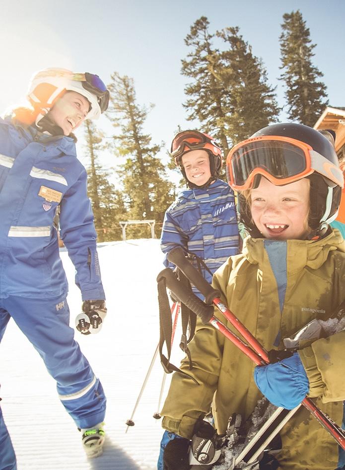 family skiing at northstar
