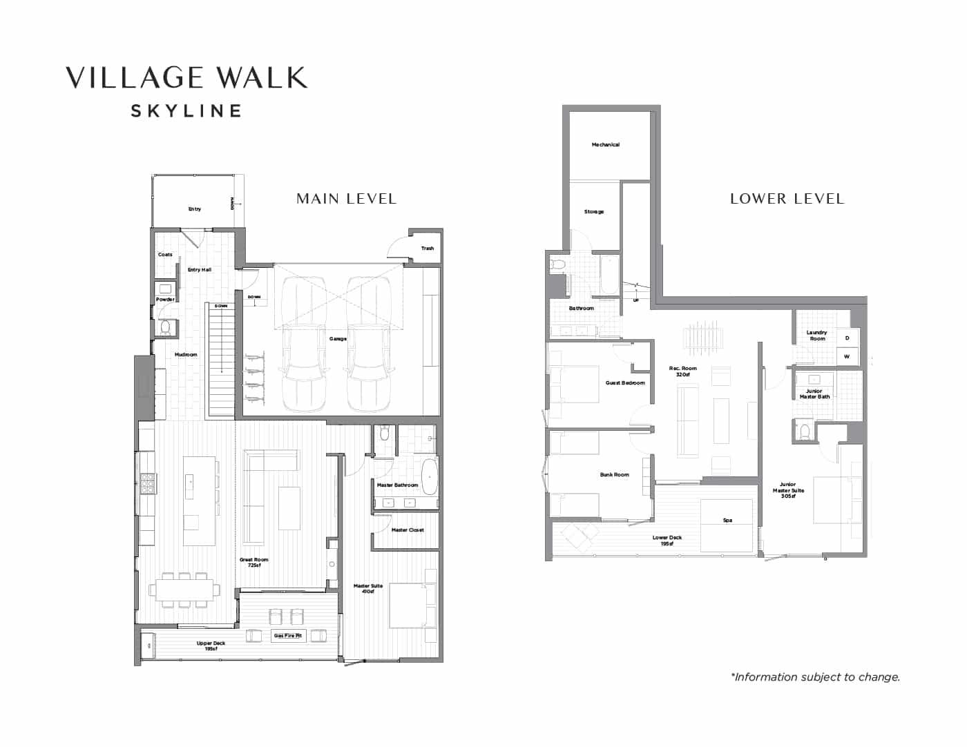village walk skyline floor plans